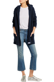 Chinti and Parker Merino wool and cashmere-blend hooded cardigan