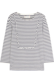 Chinti and Parker Ruffled striped cotton-jersey top