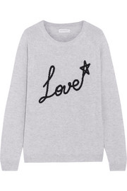 Chinti and Parker Love Star intarsia cashmere sweater