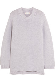 Chinti and Parker Zip-detailed cashmere sweater
