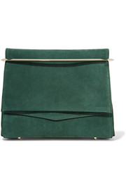 Eddie Borgo Boyd leather-trimmed suede clutch