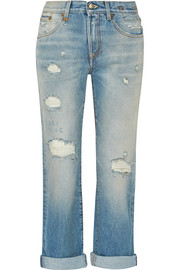 Catherine distressed mid-rise boyfriend jeans