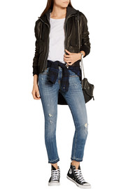 R13 Alison Crop distressed mid-rise skinny jeans