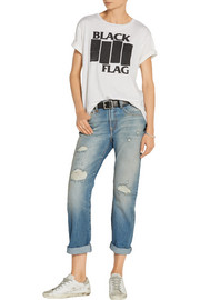 R13 Black Flag printed cotton and cashmere-blend jersey T-shirt