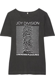 R13 Joy Division printed cotton-blend jersey T-shirt
