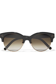 Chloé Cat-eye acetate and gold-tone sunglasses
