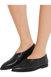 Gela leather point-toe flats