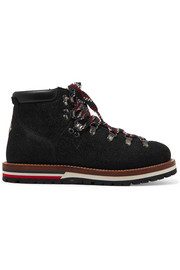 Moncler Textured-leather ankle boots