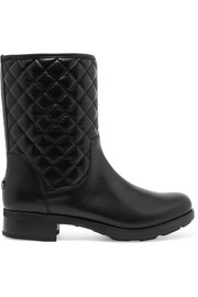 Moncler New Piccadilly Stiva quilted leather boots