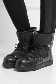 Moncler Textured-leather and shell boots