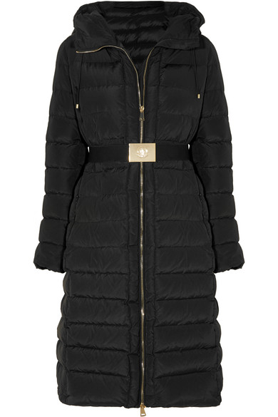 IMIN LONG QUILTED PUFFER COAT, BLACK