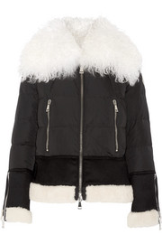 Kikilia shearling-trimmed quilted shell down jacket