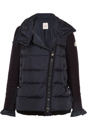 Moncler Laurine wool-blend and quilted shell down jacket