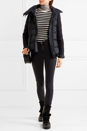 Laurine wool-blend and quilted shell down jacket