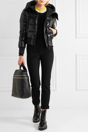 Sotiria cropped quilted glossed-shell down jacket