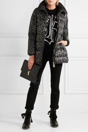 Alimede leopard-print quilted shell down coat