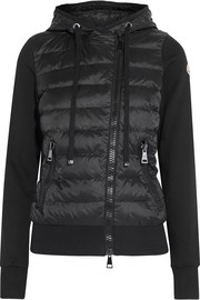 Moncler Maglia quilted shell and cotton-jersey down jacket