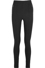 Moncler Fleece-lined twill leggings