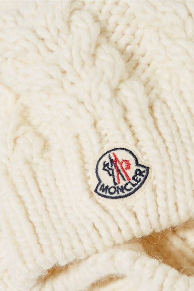 537515915a887 Moncler. Pompom-embellished cable-knit beanie.  245. Zoom In