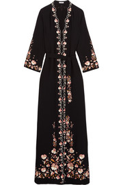Beatrice embroidered crepe maxi dress
