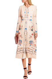 Jerry floral-print silk crepe de chine dress