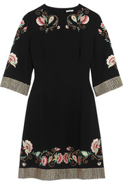 Alessia embroidered crepe dress