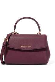 MICHAEL Michael Kors Ava mini textured-leather shoulder bag