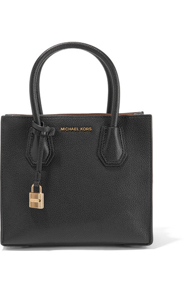 michael michael kors mercer small textured leather tote. Black Bedroom Furniture Sets. Home Design Ideas