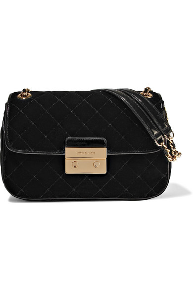 c9f3378198c2 Buy michael kors black quilted handbag   OFF73% Discounted