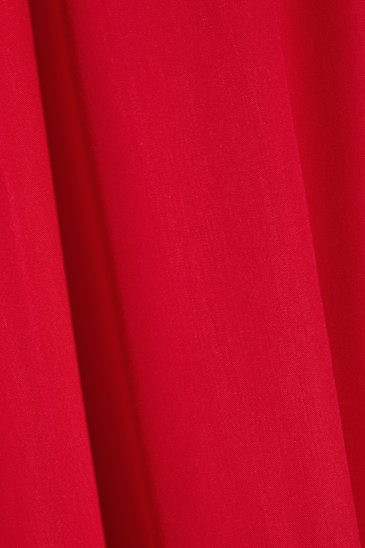 Paskal Cutout ruffle-trimmed brushed-twill dress