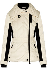 Marinet quilted and stretch-scuba down ski jacket
