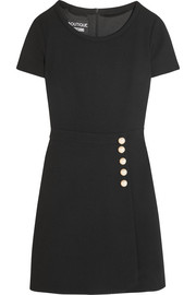 Boutique Moschino Faux pearl-embellished wool-crepe mini dress