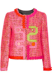 Boutique Moschino Embellished tweed jacket