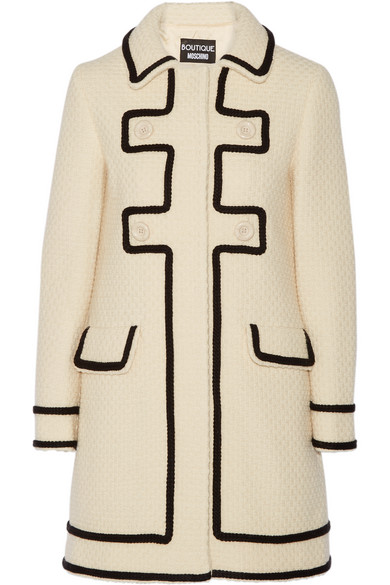 Boutique Moschino - Woven Wool Coat - Cream