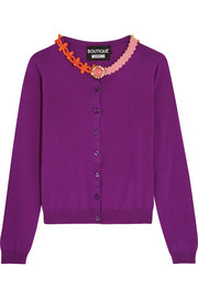 Boutique Moschino Embellished wool cardigan