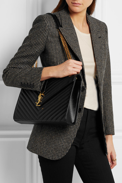 96a91de4ab SAINT LAURENT. Cassandre large quilted textured-leather shoulder bag.  £1,625. Zoom In