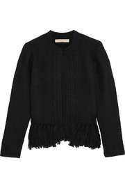 Vanessa Bruno Fidis fringed wool and cashmere-blend cardigan