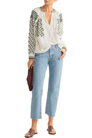 Vanessa Bruno Fileas embellished cotton-gauze blouse