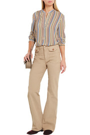 Vanessa Bruno Striped silk-crepe blouse