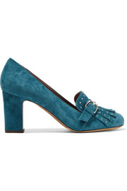 Tabitha Simmons Ethel embellished suede pumps