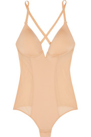 Cosabella Underwired stretch-satin and mesh bodysuit