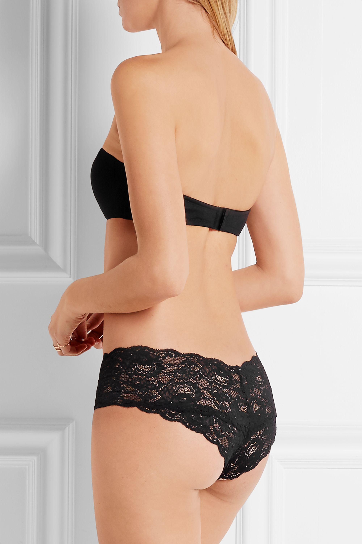 Cosabella Matte-satin and stretch-mesh strapless bra