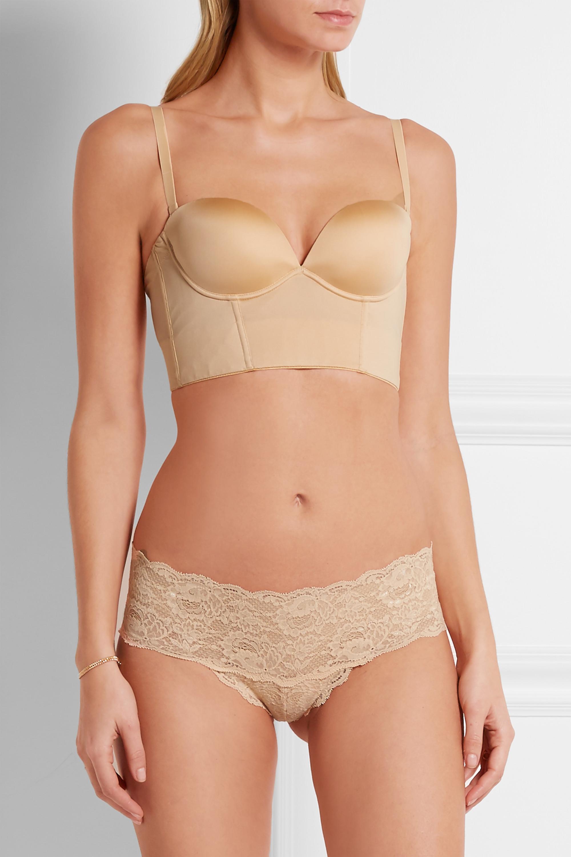 Cosabella Marni matte-satin and stretch-mesh plunge bra