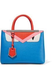 Fendi 2Jours textured-leather shopper