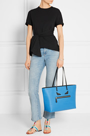 Roll textured-leather tote