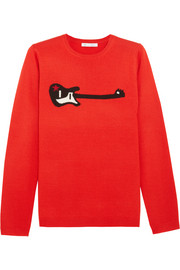 Bella Freud Guitar Star intarsia wool-blend sweater