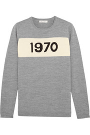 Bella Freud 1970 intarsia merino wool sweater