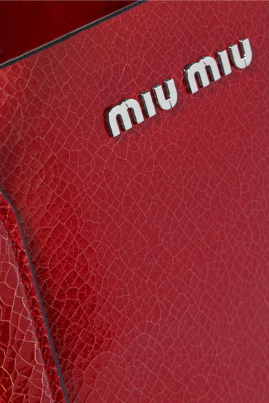 Miu Miu Cracked Leather Tote