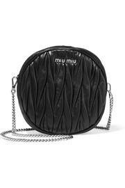 Moon matelassé leather shoulder bag
