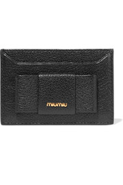 Miu Miu Bow-embellished textured-leather cardholder